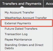 Locate Exisiting Payee Step 1